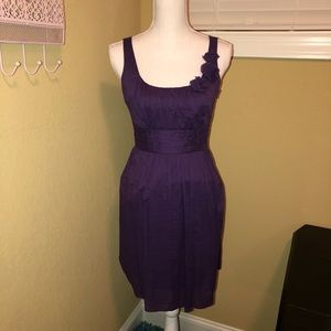 Loft Plum Purple Sun Dress EUC Size 0